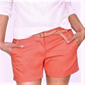 J. Crew chino's shorts size 16 Coral Broken-In